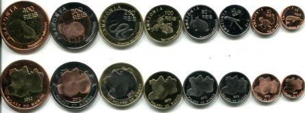 Набор монет Амазонии 2012 год