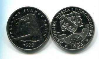 500 динар 1994 год (речной зимородок) сохранение планеты Босния и Герцеговина