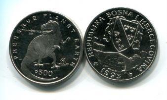 500 динар 1993 год (тиранозавр рекс) сохранение планеты Босния и Герцеговина