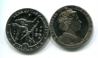 1 крона 2004 год (год обезьяны) Остров Мэн