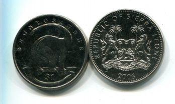 1 доллар 2006 год (бронтозавр) Сьерра-Леоне