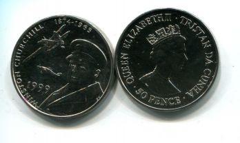 50 пенсов 1999 год (Черчиль) Тристан-да-Кунья