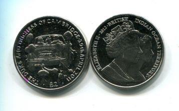 2 фунта 2012 год (Принц Уильям и Кейт Миддлтон - свадьба 29.04.2011) Британские территории Индийского океана