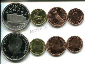 Набор монет Великобритания - острова Ланди 2011 год
