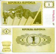 1 толлар 1990 год Словения