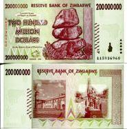 200 000 000 долларов 2008 год Зимбабве