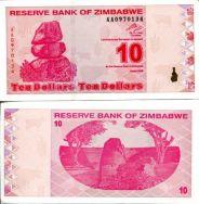 10 долларов 2009 год Зимбабве