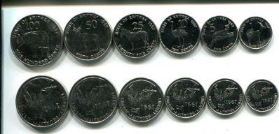 Набор монет Эритреи (животные)
