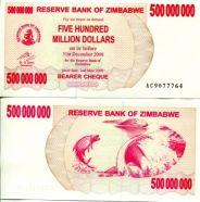 500 000 000 долларов 2008 год Зимбабве