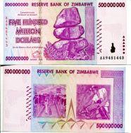 500 000 000 долларов 2008 год Зимбабве (рабочие)