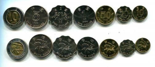 Набор монет Гон-Конга