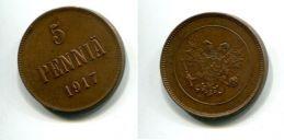 5 пенни 1917 год Русская Финляндия