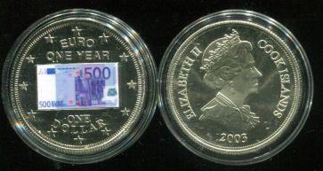 1 доллар 2003 год Остров Кука