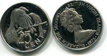25 центов 1973 год Британские Виргинские острова