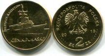 2 злотых 2013 год (Ракетный фрегат Генерал К.Пуласки) Польша