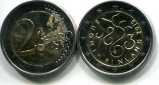 2 Евро 2013 год (150 лет Парламенту) Финляндия
