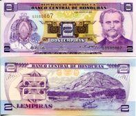 2 лемпиры 2004 год Гондурас