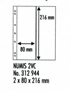 Лист в альбом Numis для 2-х банкнот Numis