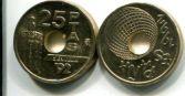 25 песет 1992 год Испания