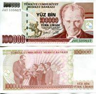 100000 лир Турция 1997 год