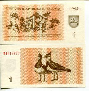1 талон Литва