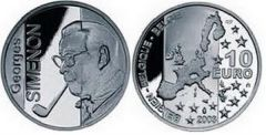 10 евро серебро (Бельгия, 2003 г.)