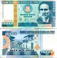10000 инти 1988 год Перу