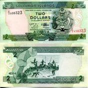 2 доллара Соломоновы острова (рыбная ловля)