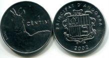 1 сантим (серна, 2002г.) Андорра