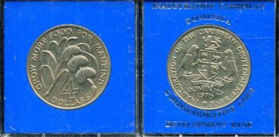 4 доллара 1970 год Карибы Доминика