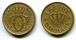 2 кроны (года разные) Дания