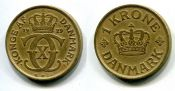 1 крона  Дания 1929 год