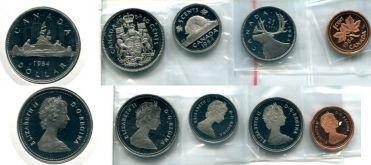 Набор монет Канады (1984 год)