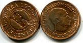 1/2 цента (1964 г.) Сьерра-Леоне