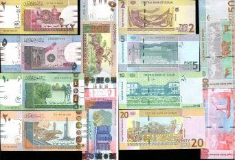 Набор банкнот Судана из 6 штук