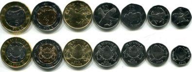 Набор монеты Ботсваны (набор 2013г.)