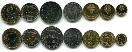 Набор монет Португалии