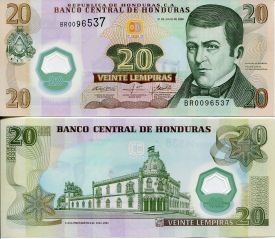 20 лемпир Гондурас