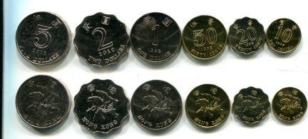 Набор монет Гонконга