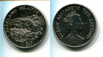 50 пенсов (Фолкленды, 1990 г.)