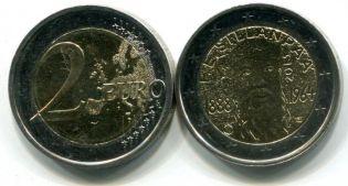 2 евро Ф.Э.Силланпяя  (Финляндия, 2013 г.)