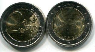 2 евро Джованни Бокаччо (Италия, 2013 г.)