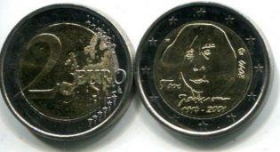 2 евро Туве Янсон (Финляндия, 2014 г.)