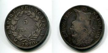 5 франков Наполеон (Франция, 1810 г.)