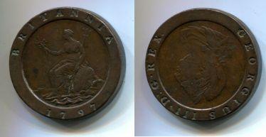 2 пенса Георг III (Англия, 1797 г.)