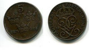 5 эре (Швеция, 1914 г.)