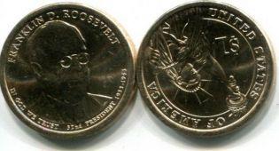 1 доллар Ф.Рузвельт (США, 2014 г.)
