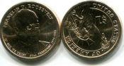 1 доллар Ф.Рузвельт 32-ой президент США, 2014 год