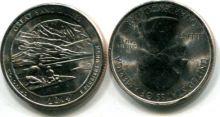 25 центов парк Грейт Санд Дьюнс (США, 2014 г.)