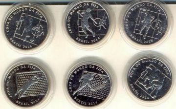 Набор монет Чемпионат Мира (Бразилия, 2014 г.)